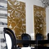 flower & gold panel